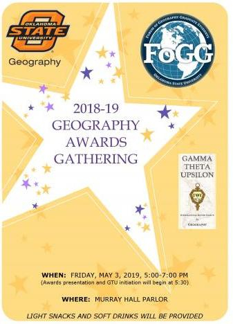 Geography Awards Gathering 2019