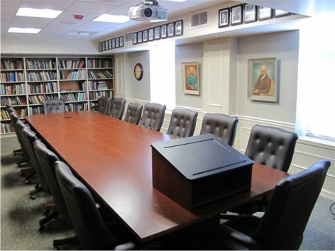 Donald Hecock Memorial Library in the Edward E. and Olive W. Keso Seminar Room